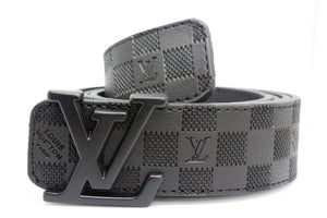 Amazing Black Damier Leather Belt