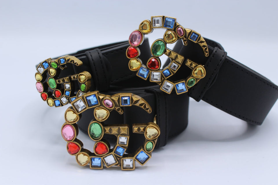 Amazing Belt Colorful Stone Buckle