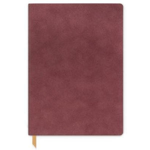DesignWorks Ink Vegan Suede Journal Burgundy