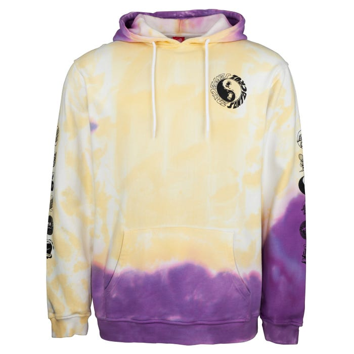 Santa Cruz Screaming Ying Yang Organic Cotton Hoodie - Tie Dye