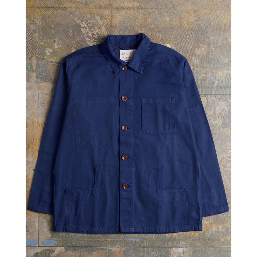 USKEES 3004 Buttoned Organic Jacket - Navy