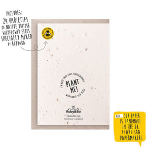 Ruby & Bo Happy Bee Day Seed Card