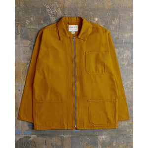 USKEES 3002 Mens Zip Work Shirt Yellow