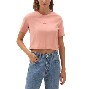 Vans Flying V Crop Crew Tee - Rose Dawn