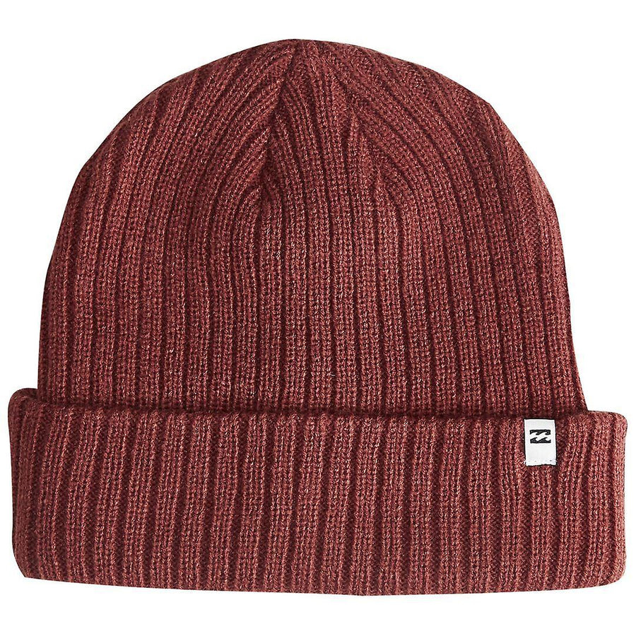 Billabong Arcade Rib Knit Beanie - Oxblood