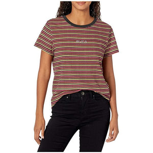 RVCA Ruff Stripe Women's T-Shirt - Washed Black