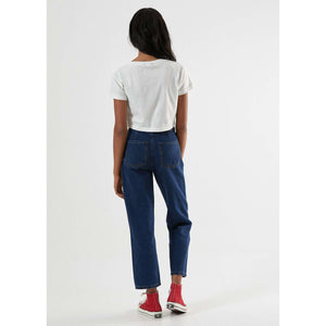 Afends Millie Crop Tee Cream