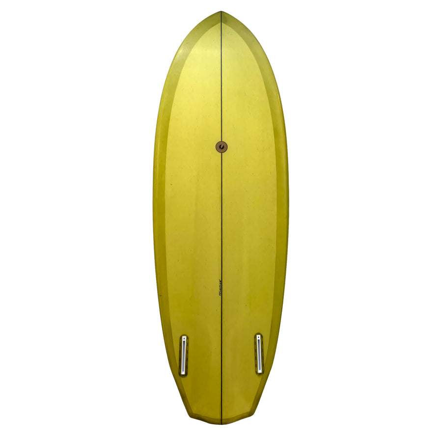 "Album Plasmic Custom Twin Fin Surfboard 5'4"" - Chartreuse Green"