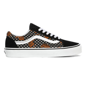 Vans Old Skool Skate Shoes - Tiger Floral / Blk / Wht