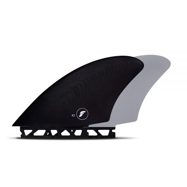 Futures K2 Fibreglass Keel Surfboard Fins - Black / Grey