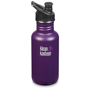 Klean Kanteen Classic Water Bottle 532ml w/ SPORTS Cap - Winter Plum