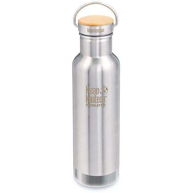 Klean Kanteen Vacuum Insulated REFLECT 592ml - Bamboo / BRUSHED Stainless