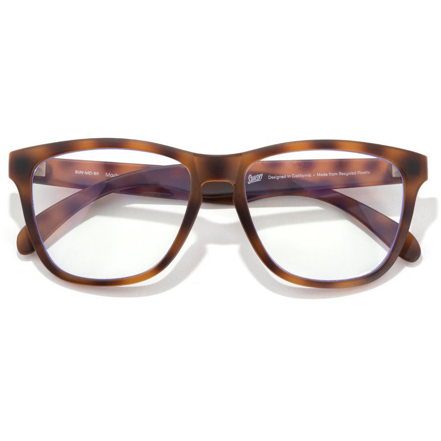 Sunski Classic Blue Light Glasses - Tortoise / Clear