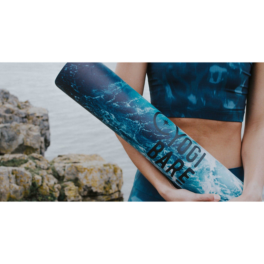 Yogi Bare 'Flow' Natural Rubber Yoga Mat - Wave