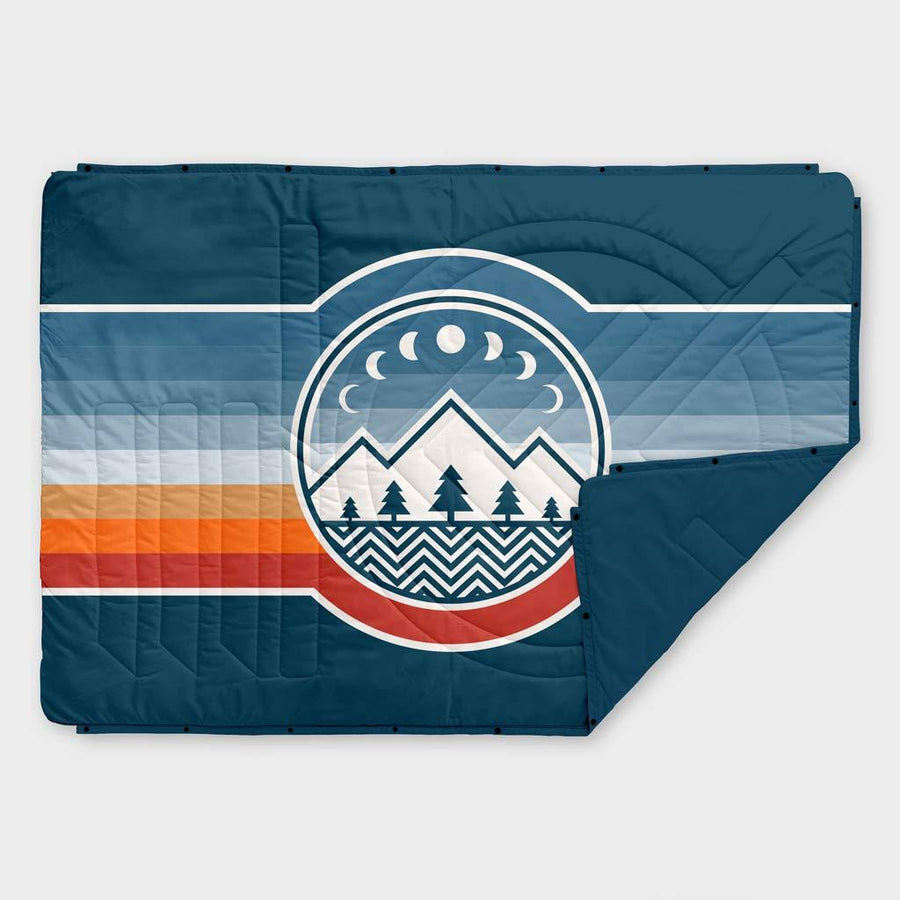 Voited Recycled Ripstop Outdoor PillowBlanket - Camp Vibes 2 / Legion Blue