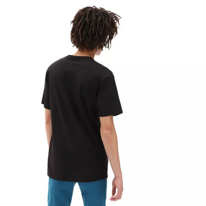 Vans Left Chest Logo Men's T-Shirt - Black / Waterfall