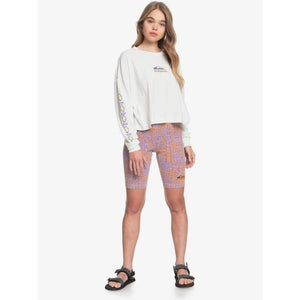 Quiksilver Organic Bike Shorts - Lilac Tribal
