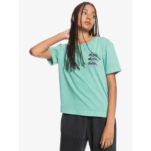 Quiksilver Colourful Land Organic T-Shirt - Marine Green