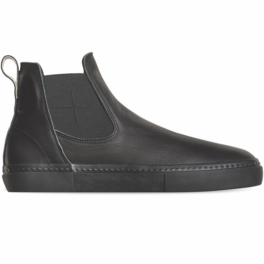 Globe Dover II Mid Top Leather Slip On Shoes - Black/Wasted Talent