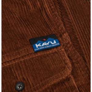 Kavu Petos Cotton Corduroy Shirt Jacket - Dark Rust