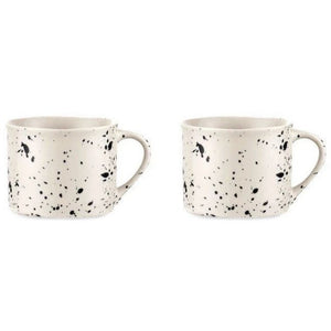 Nkuku Set of 2 Ama Small Ceramic Mug - White