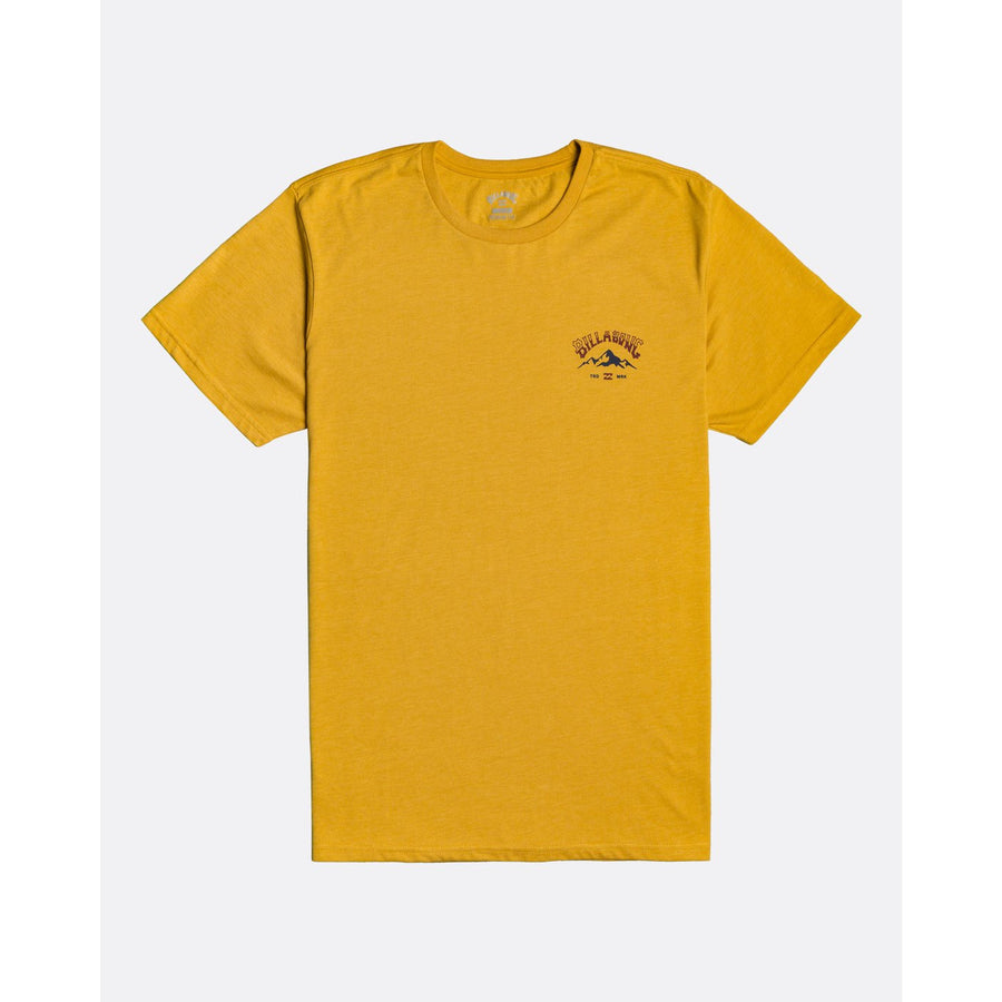 Billabong Arch Peak Mens Tee - Mustard