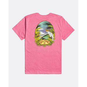 Billabong Billys Point Mens T-Shirt Retro Pink