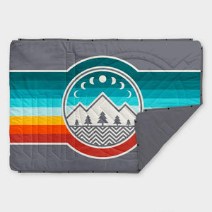 Voited Recycled Ripstop Outdoor PillowBlanket - Camp Vibes Shade Grey