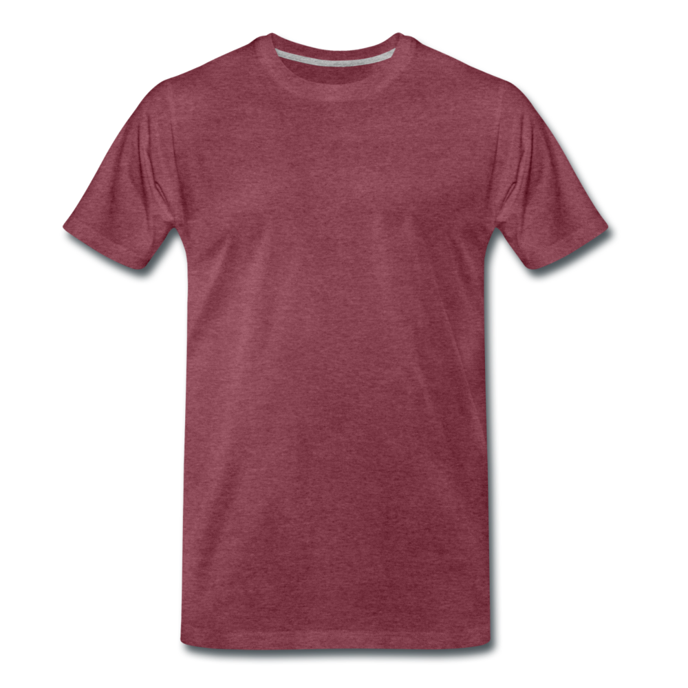 Men's Premium T-Shirt - bordeaux gemêleerd