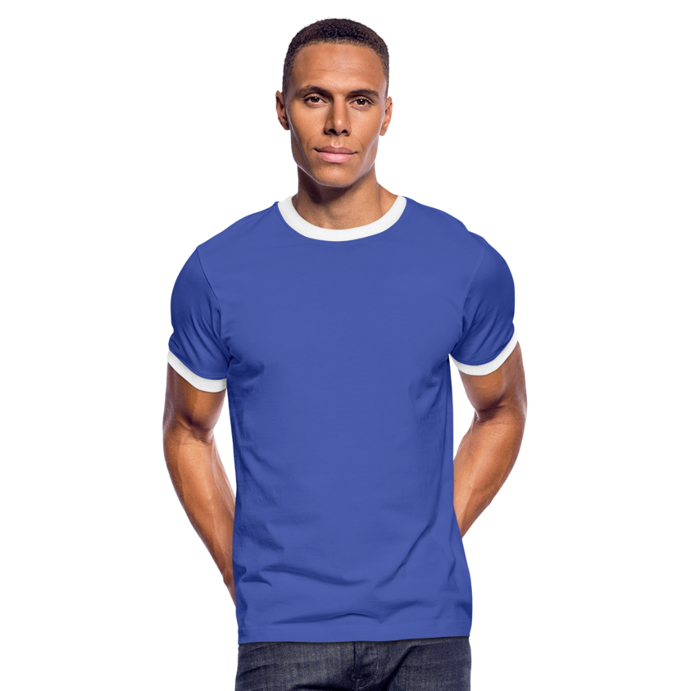 Men's Ringer Shirt - blauw/wit