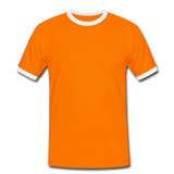 Men's Ringer Shirt - naranja/blanco