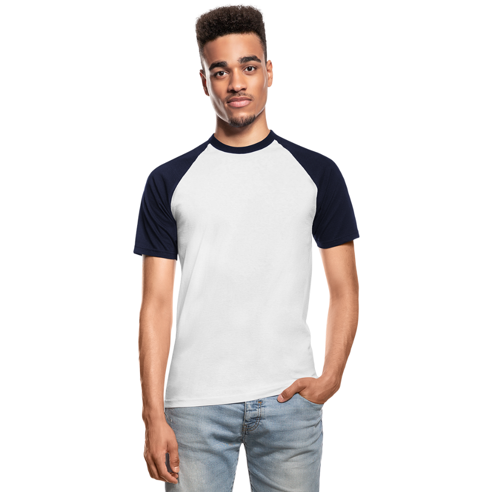 Men's Baseball T-Shirt - wit/navy