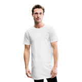 Men's Long Body Urban Tee - wit