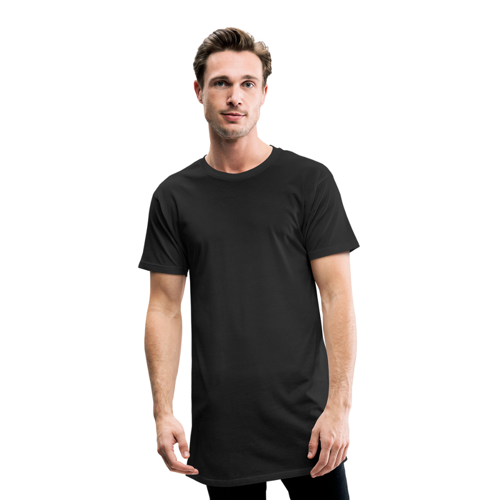 Men's Long Body Urban Tee - zwart