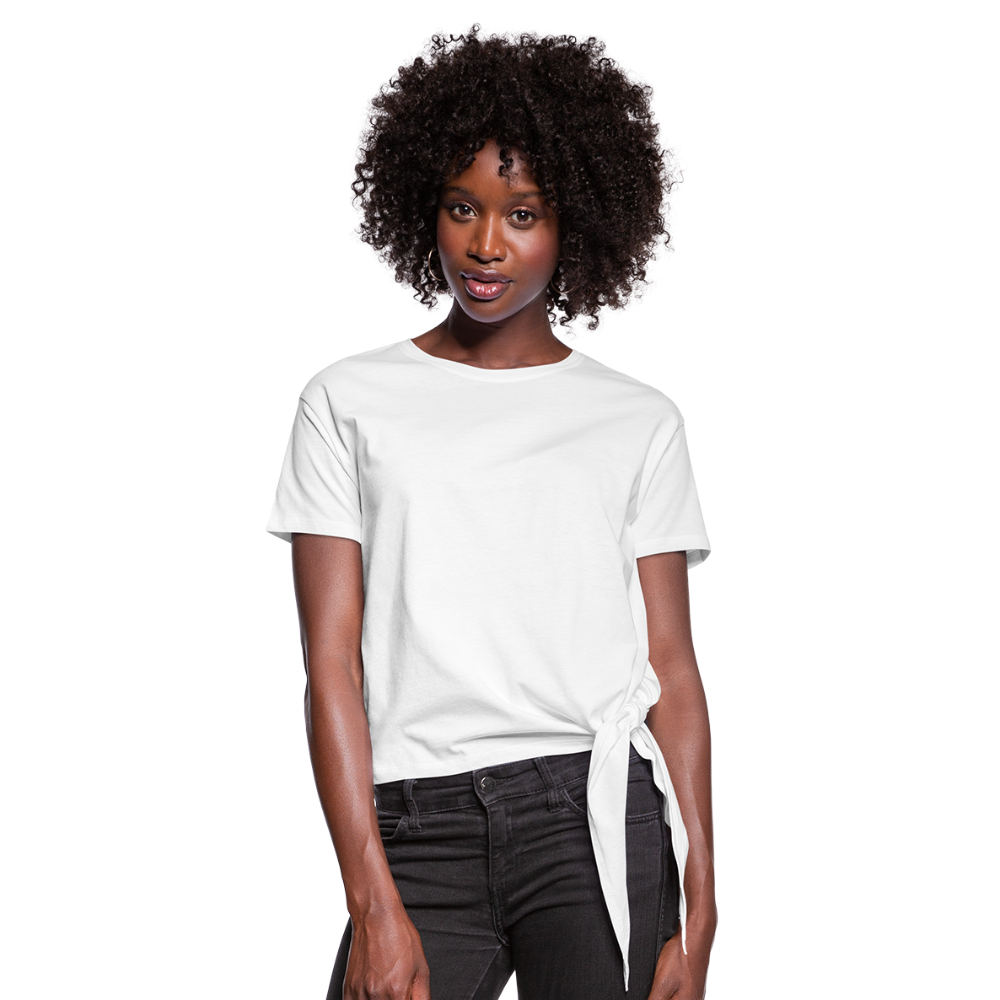 Women's Knotted T-Shirt - wit