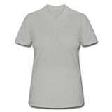 Women's Polo Shirt - grijs gemêleerd