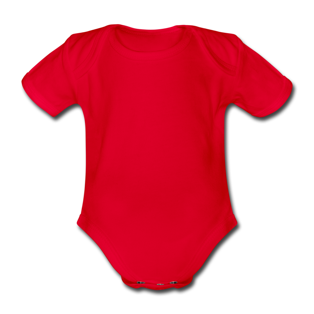 Organic Short-sleeved Baby Bodysuit - rood