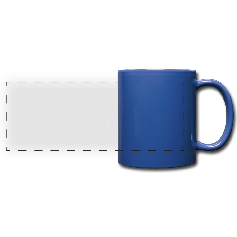 Full Color Panoramic Mug - royal blauw