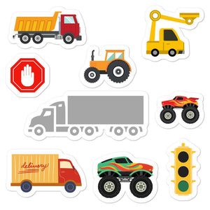 Truck Themed Bubble-free stickers - PAINTloose