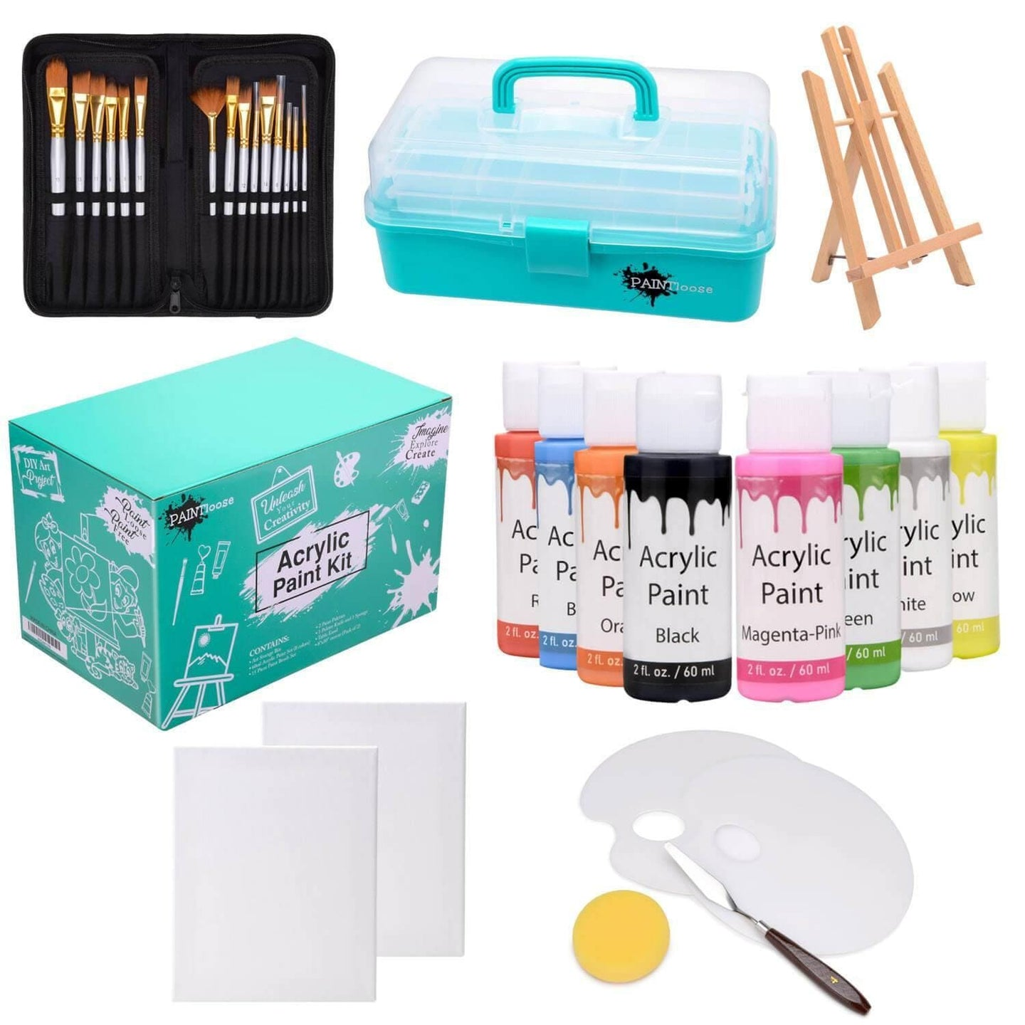 Complete acrylic paint kit for kids