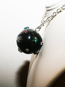 Star Ball Choker Necklace in Black Moon