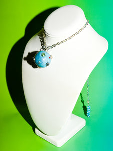 Star Ball Choker Necklace in Blue Wave