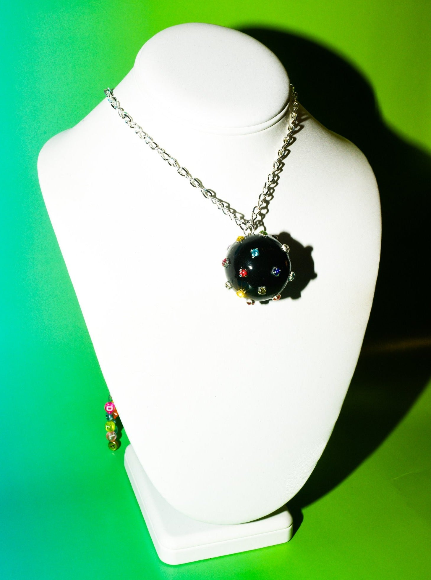 Disco Ball Choker Necklace in Black Hole