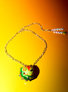 Disco Ball Choker Necklace in Green Galaxy