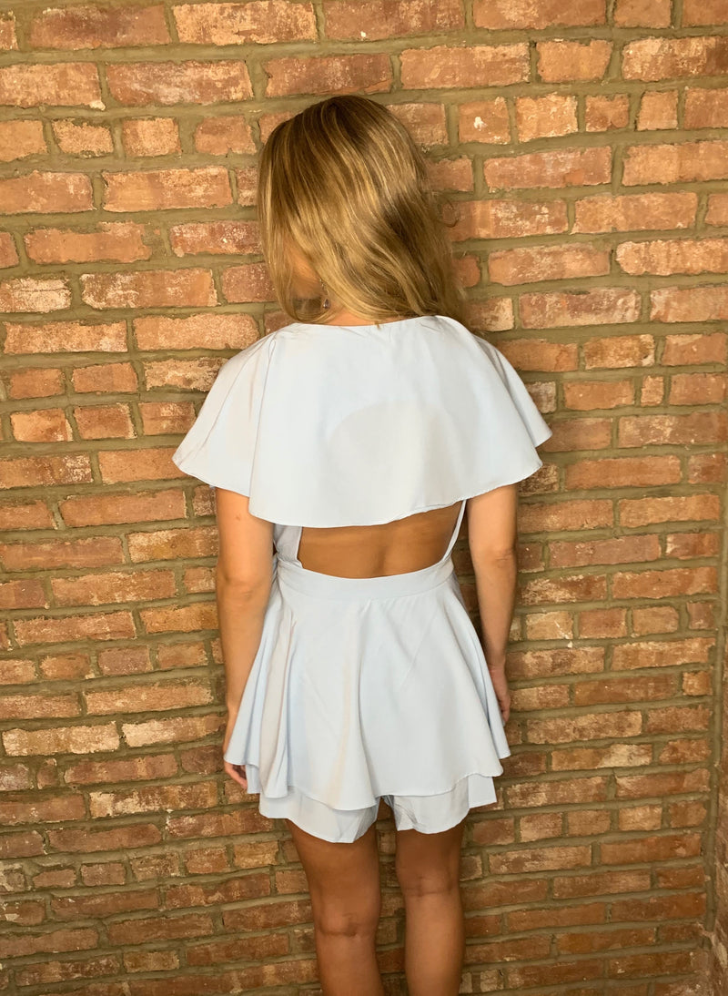 Summer Friday Romper - Blue