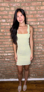 Drinks on Hudson Dress- Yellow/Green