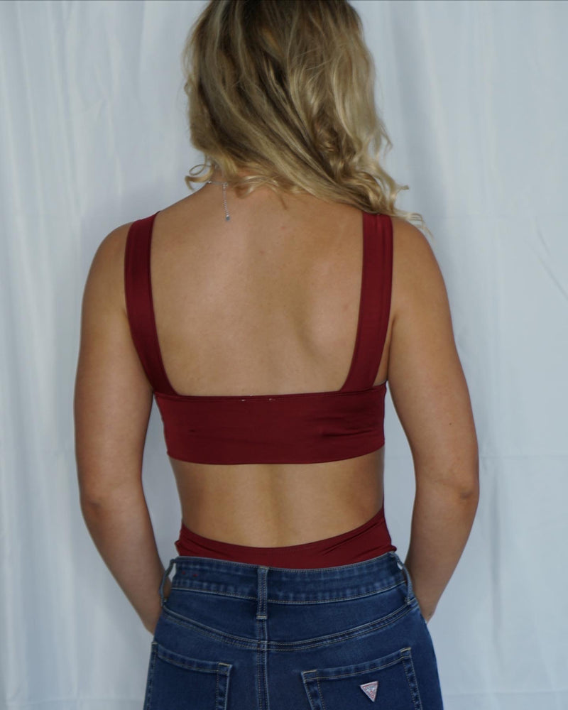 Burgundy Bodysuit
