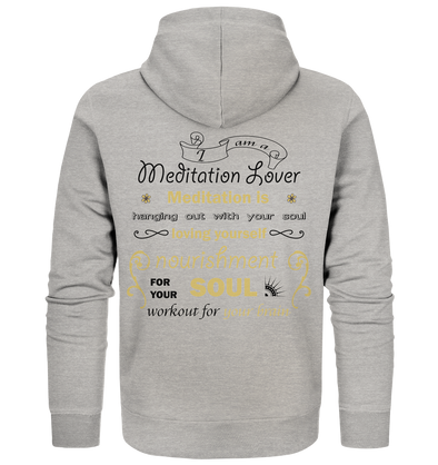 MEDITATION LOVER<br>Mens Organic Zipper