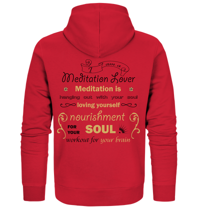 MEDITATION LOVER<br>Organic Zipper