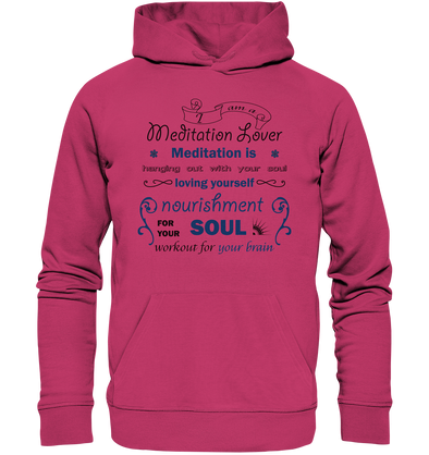 MEDITATION LOVER<br>Organic Light Hoodie